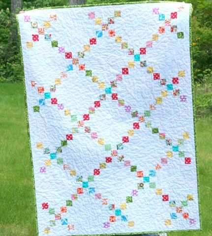 single Irish chain quilt-- scrappy All About Quilts Pinterest