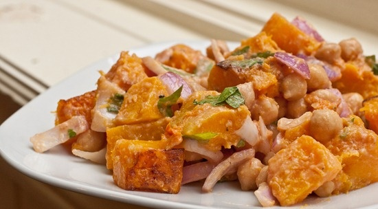 Warm Butternut Squash and Chickpea Salad | Angel's Food | Pinterest