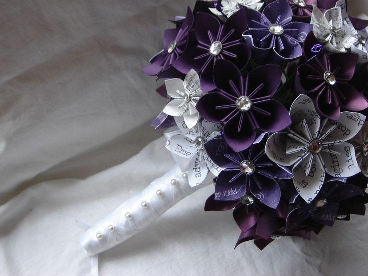 paper kusudama origami flower wedding bouquet customized