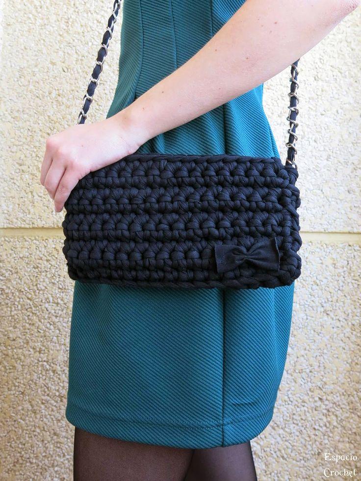 Bolsos de trapillo bolsos de trapillo tutorial for Bolso crochet trapillo