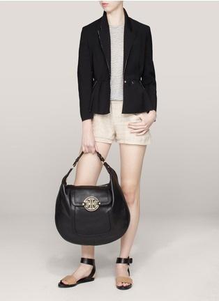 Tory Burch - Amanda flat leather hobo bag   Black Shoulder Bags   Womenswear