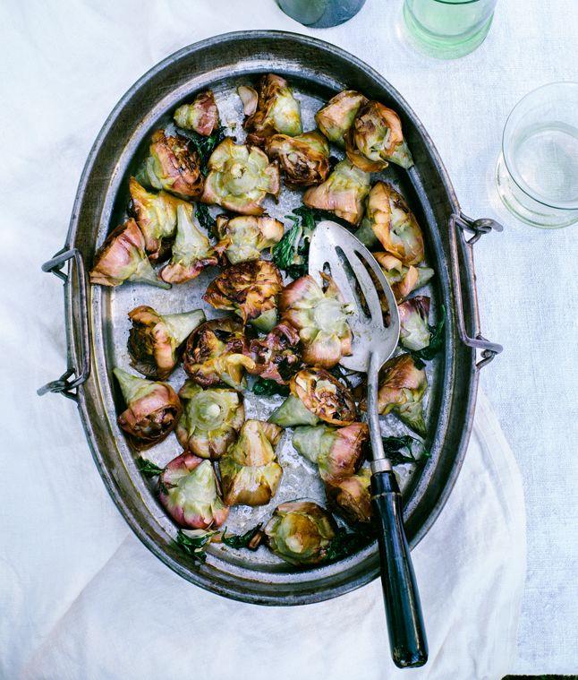 Pot-Roasted Artichokes