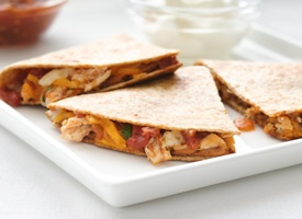 Healthy Chicken Quesadillas - Made it last night and it was a HUGE hit ...
