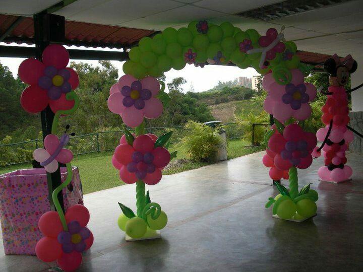 Decoracion Al Aire Libre De Fiestas Infantiles ~ Arco flores  balloon decor  Pinterest