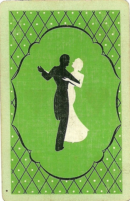 vintage playing card green dance by Millie Motts, via Flickr