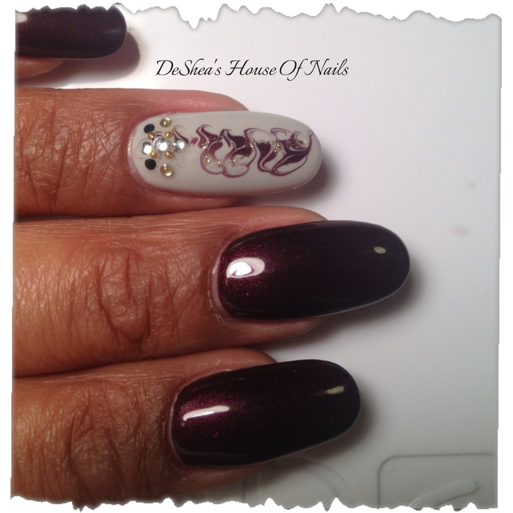 Shellac nails dark lava/city scape | Nailed By DeShea | Pinterest