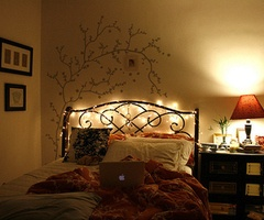 Christmas lights on the headboard :] | | Housewarming Registry List ...