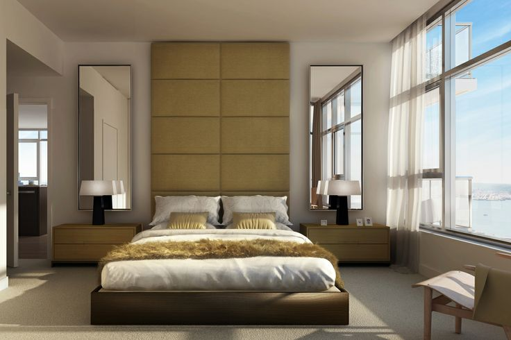Floor to ceiling headboard for the home pinterest - Floor to ceiling headboard ...