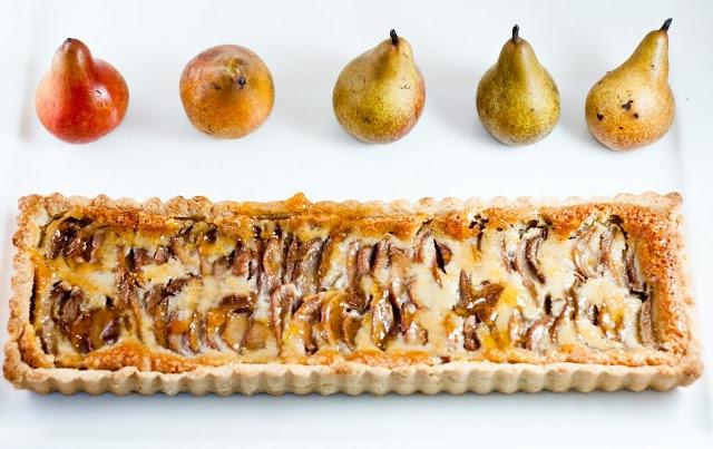 Desserts for Breakfast: Drunken pear frangipane tart