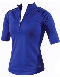 Last One! Jofit Pleated Shoulder Top in blue lapis (reg. $70) SALE $42