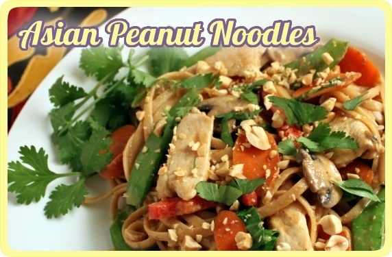 Asian Peanut Noodles with Chicken & Vegetables | Recipe