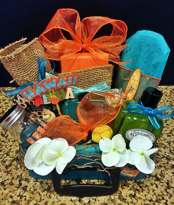 Create A Wedding Gift Basket : Honeymoon gift basket makes a perfect gift for a wedding shower!