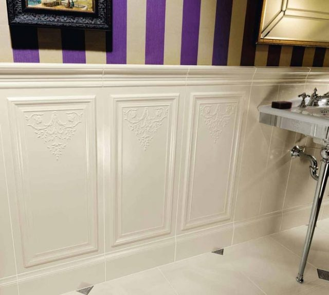 tile wainscoting for the home pinterest
