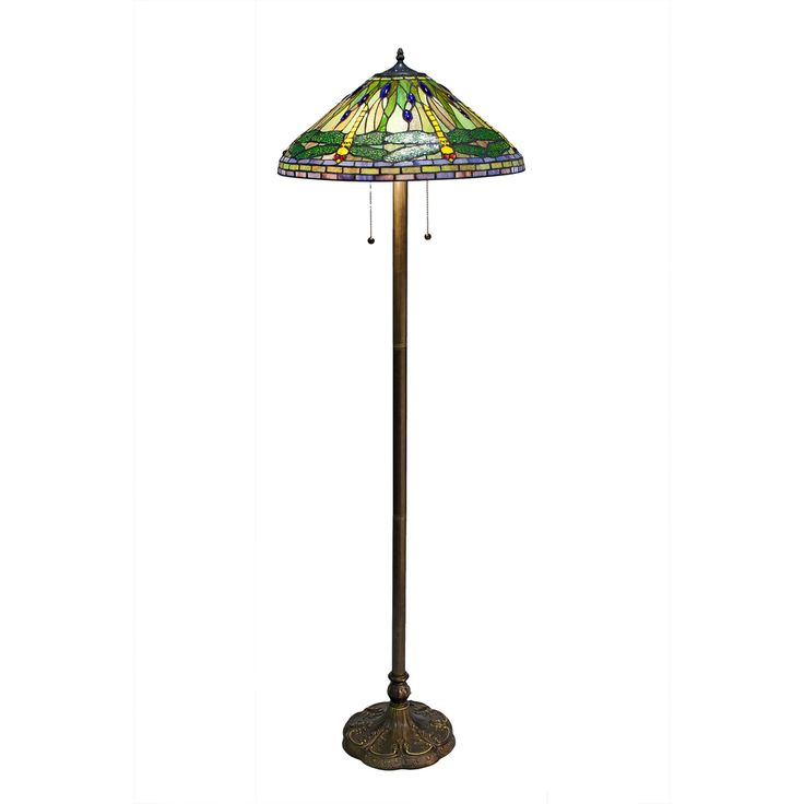 tiffany style green dragonfly floor lamp shopping. Black Bedroom Furniture Sets. Home Design Ideas