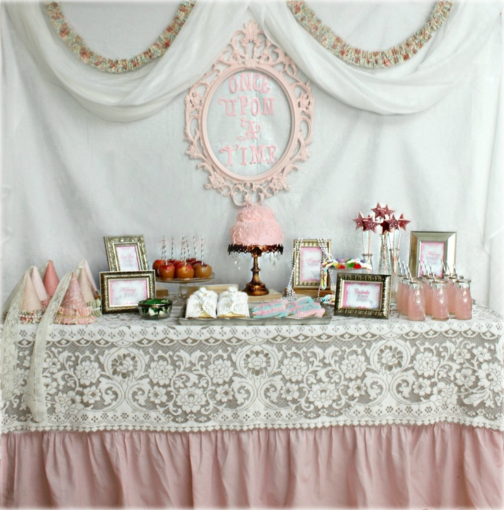 Like The Lace On Pink Tablecloth Princess Tea Party