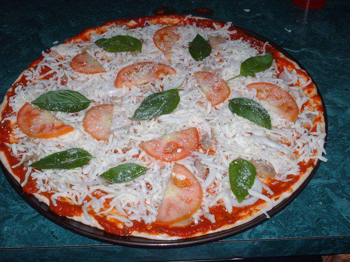 Fresh Tomato And Basil Pizza Recipe — Dishmaps