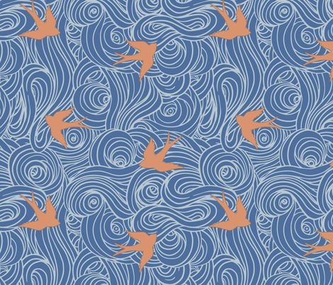 Take Flight, Playful Summer fabric by sparrowsong on Spoonflower - custom fabric