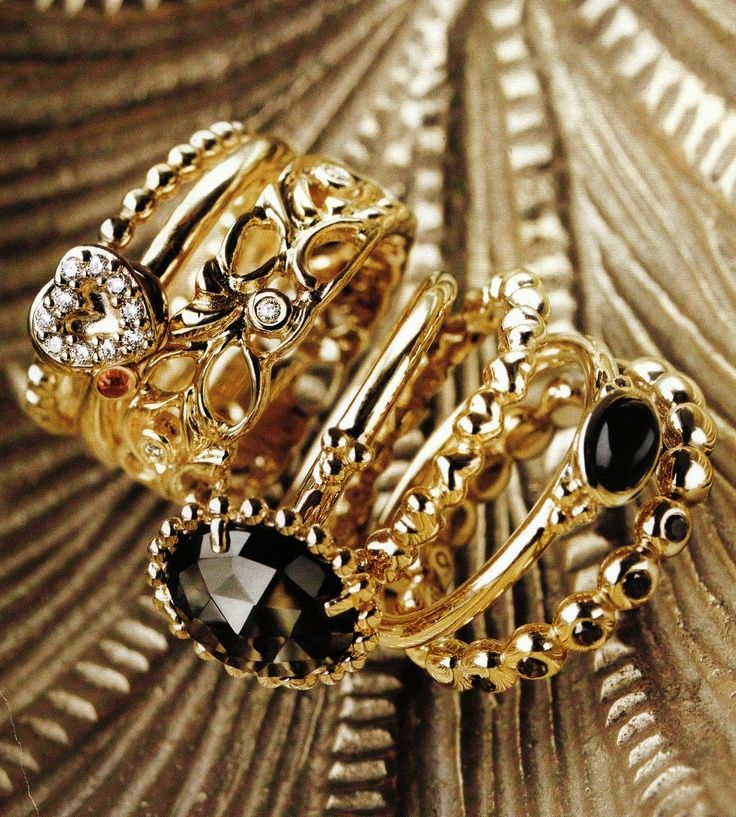 gold pandora rings style