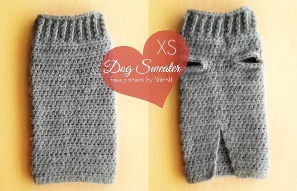 XS Dog Sweater (Free Pattern) Crochet Pinterest
