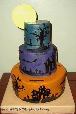 3 tier halloween cakes