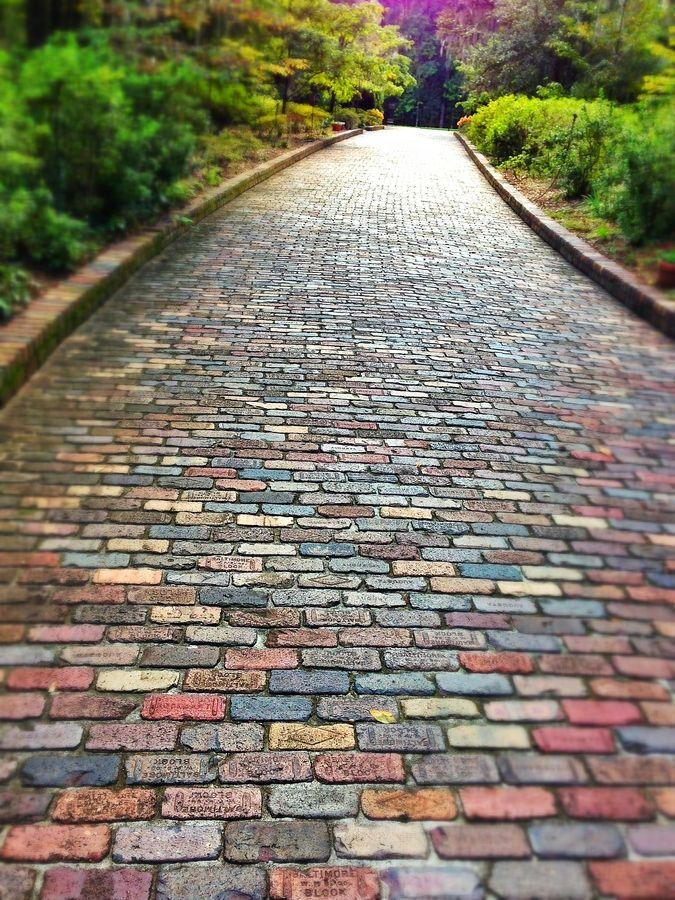 Brick Path Gardening Pinterest
