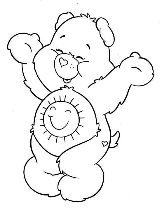 pin care bear coloring page printable cheer on pinterest Care Bears Coloring Pages Printable  Cheer Bear Care Bear Coloring Pages