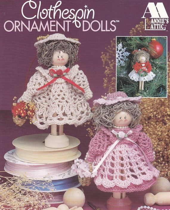 Clothespin Angels Crochet Patterns - Christmas Ornaments