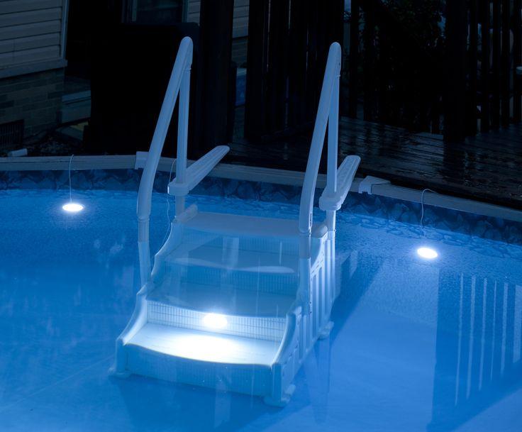 above ground pool lighting pool area pinterest. Black Bedroom Furniture Sets. Home Design Ideas