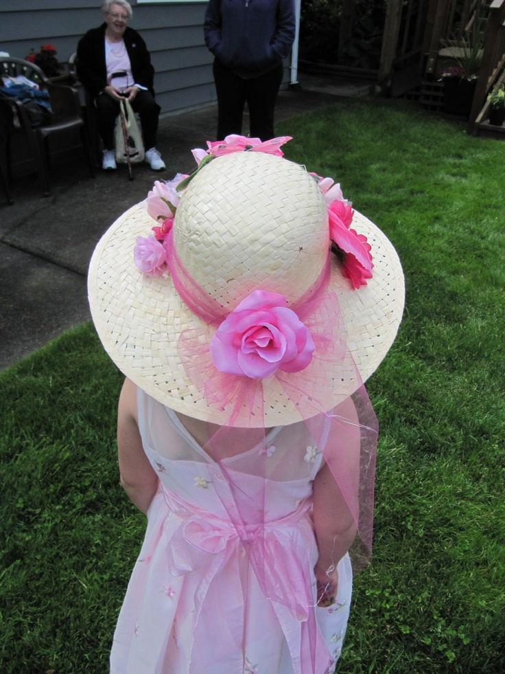 Decorate your own tea party hat tea anyone pinterest for How to decorate a hat for a tea party