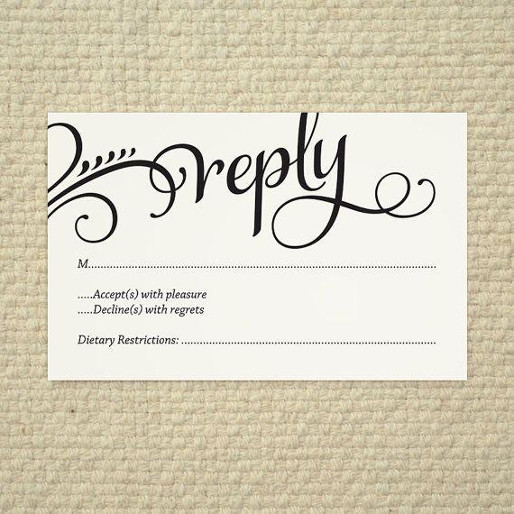 wedding rsvp templates