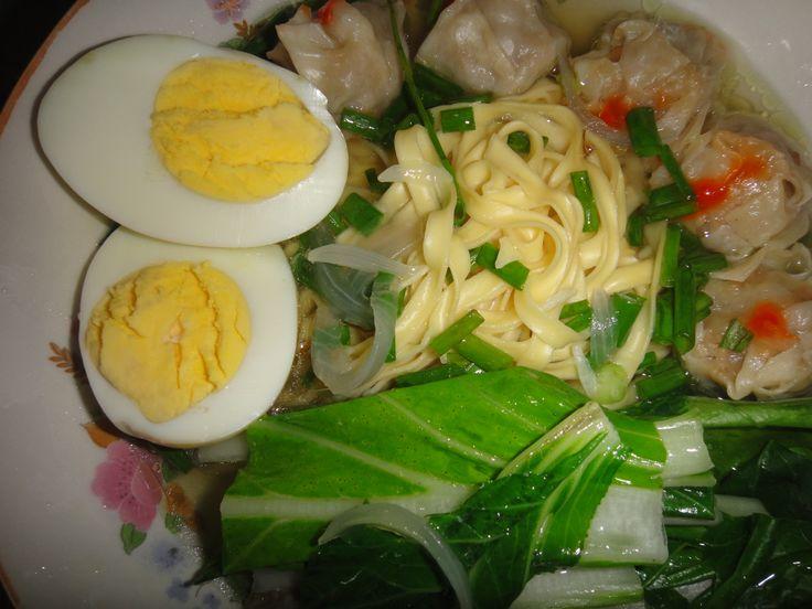 pork (siomai) dumpling noodle soup   home cooked meals   Pinterest