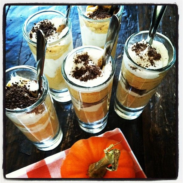 Pumpkin Cheesecake Shooters for portion control Photo by skinnytaste