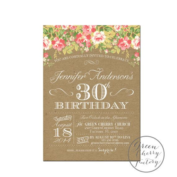 Etsy Birthday Invitation with awesome invitations layout