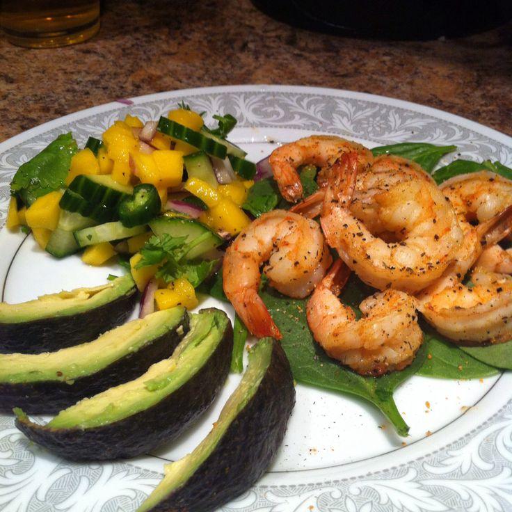 shrimp and Mango salsa with avocado! Recipe for Salsa-1 ripe mango ...
