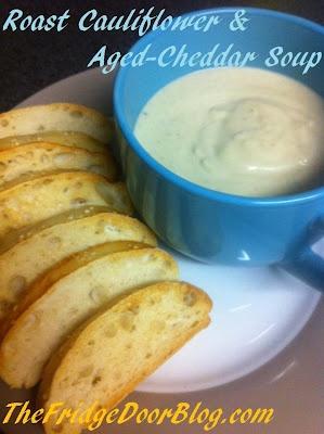 Roasted Cauliflower & Aged Cheddar Soup - YUM!
