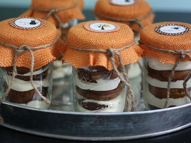 pumpkin chocolate chip muffins in a jar