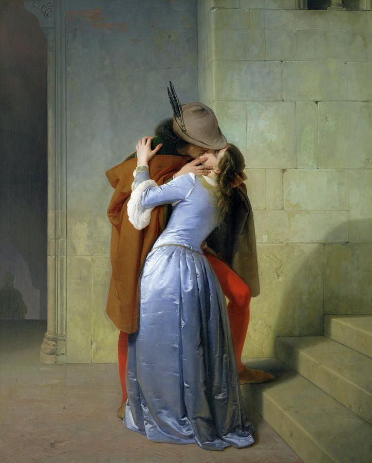 Поцелуй Живопись - Поцелуй Репродукция
