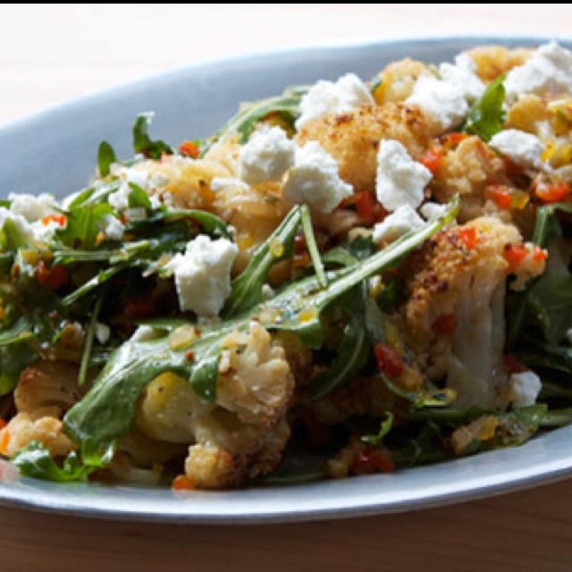 Cauliflower Salad with Pickled-Pepper Relish and Lemon Vinaigrette