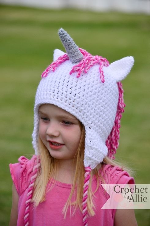 Crochet Pattern For A Unicorn Hat : Crochet Unicorn Hat Crochet By Allie I like to crochet ...