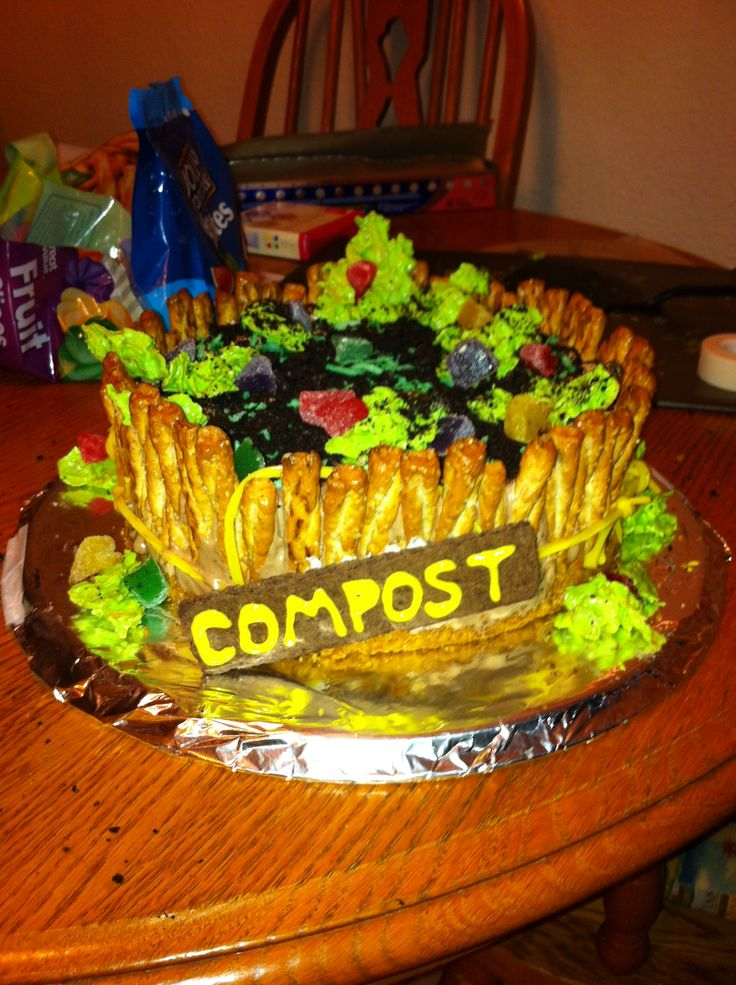 cake made with pretzels,rainbow licorice, chocolate chips, a homemade ...