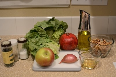 salad with endive squash apple and pomegranate pops crab salad crab ...