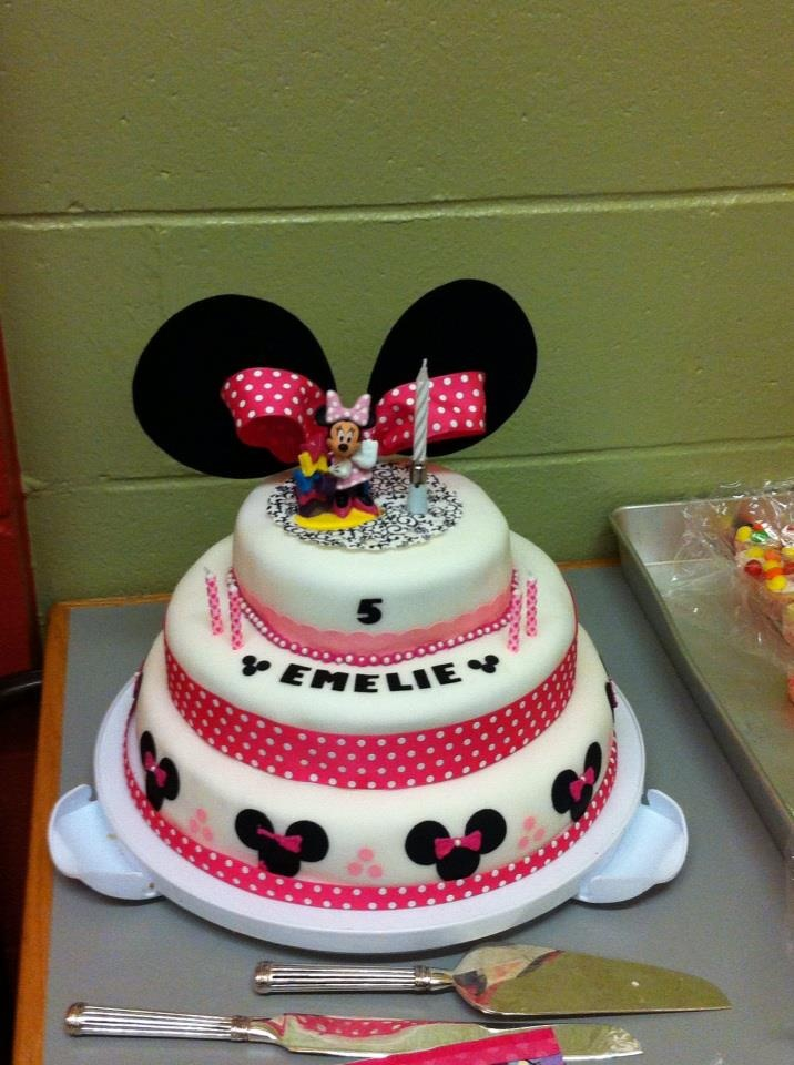 fondant cake minnie mouse