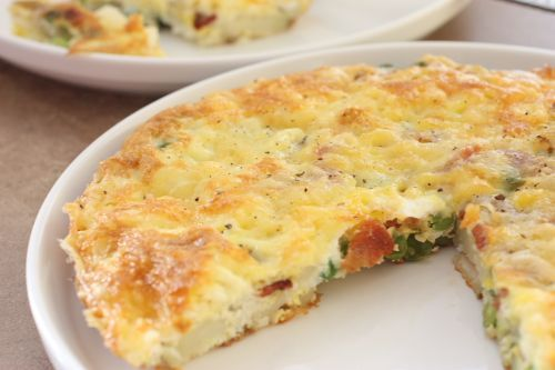 Cheesy Bacon and Potato Frittata for Two. Easy Brunch or Breakfast ...