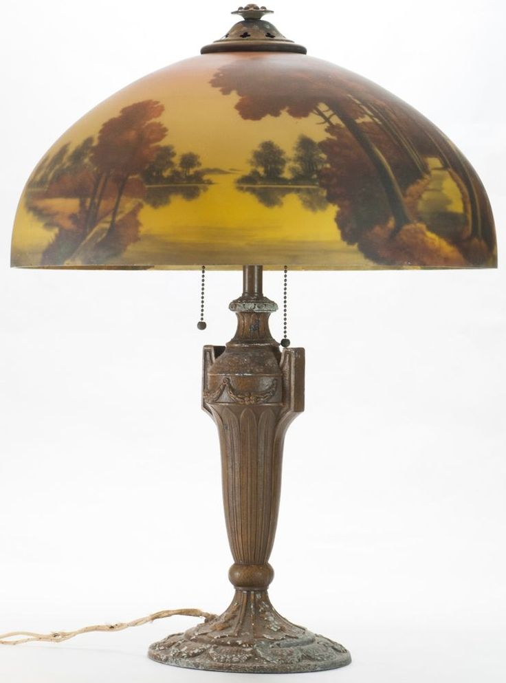 Reverse painted lamp for Painting light shades
