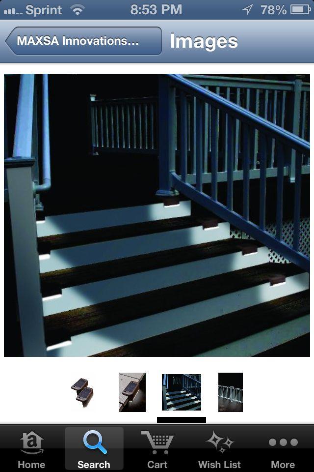 Deck stair solar lighting landscaping gardening and backyard ideas - Solar deck lights for steps ...