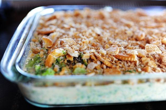 Broccoli Casserole with Velvetta Cheese and Ritz Crackers... who can ...