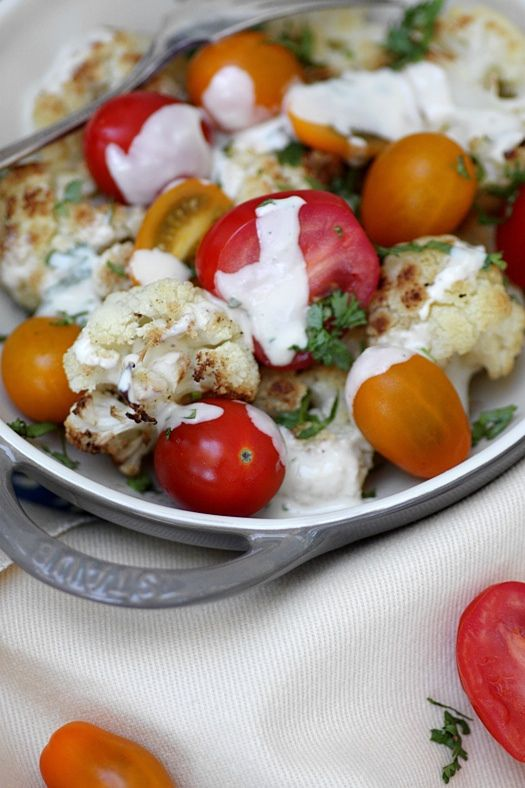 Recipe For Cauliflower and Cherry Tomato Salad with Basil