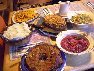2007 Canadian Thanksgiving feast | Vegan Feast Kitchen | Pinterest