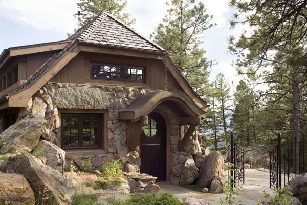 "Picture #4, TKP Architects ""Mountain Cottage,"" showing the front Entry."