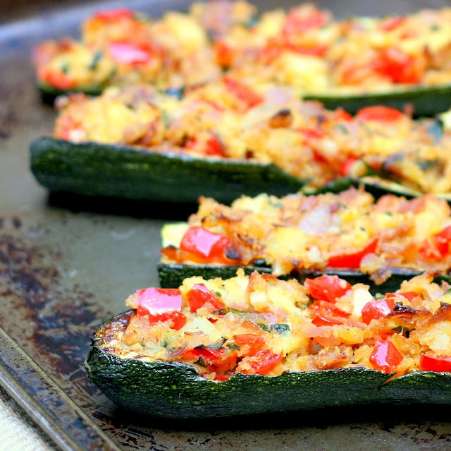 Stuffed Zucchini Boats | Things I Want to Cook | Pinterest